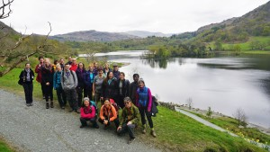 Rydal water hiking group