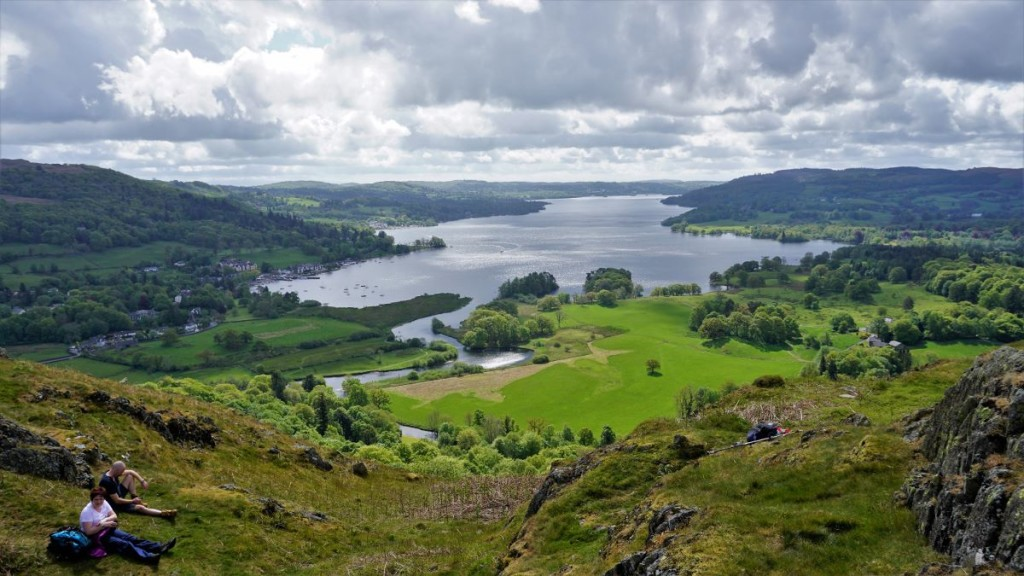 Windermere view from Todd Crag on Loughrigg.
