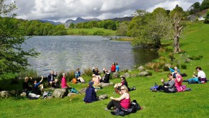 Loughrigg Tarn lunch stop