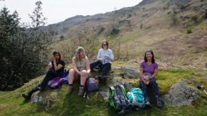 Ambleside yoga hikes Rydal picnic stop