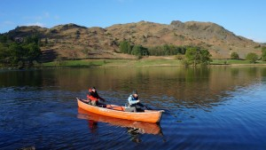 lake district yoga hiking morning canoe