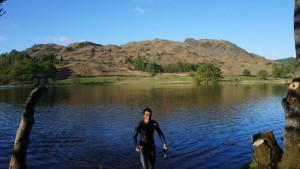 lake district yoga hiking morning swim