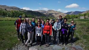 Lake District yoga hiking Easedale group