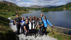 Rydal Water walk group photo