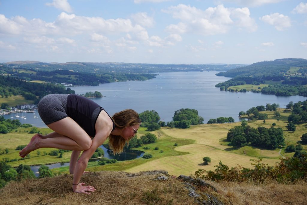 Ambleside yoga hikes - Todd crag yoga practice