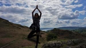 Lake District Yoga hiking practice