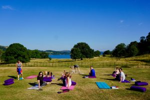 Ambleside yoga in the grounds of Brathay