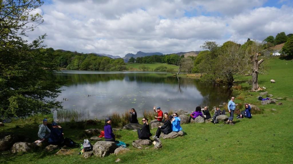 Loughrigg Tarn picnic