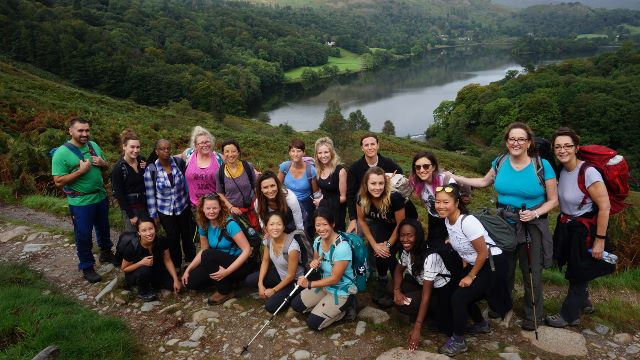 rydal yoga hiking weekend grasmere view