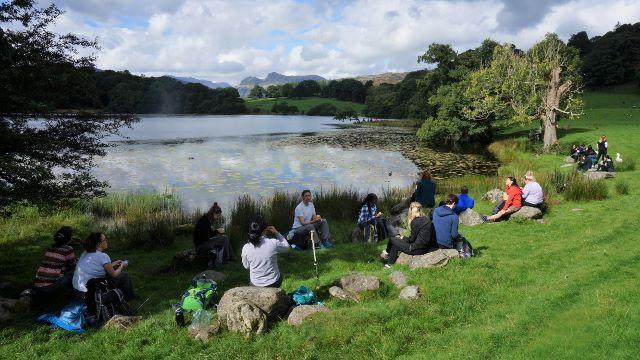 Loughrigg Tarn picnic stop