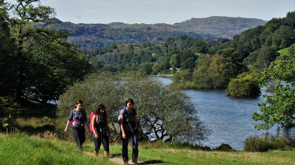 hiking around rydal water