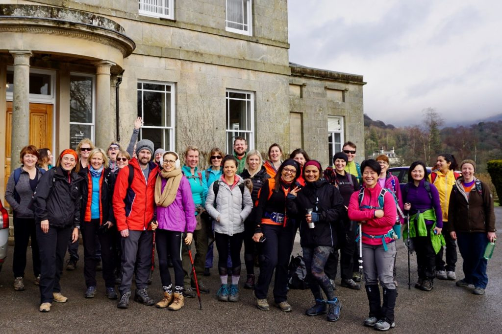 YogaHikes Brathay group photo