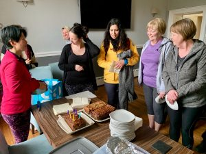 YogaHikes Brathay birthday cake