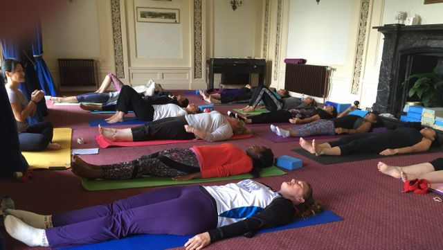 rydal hall yoga hikes - yoga room