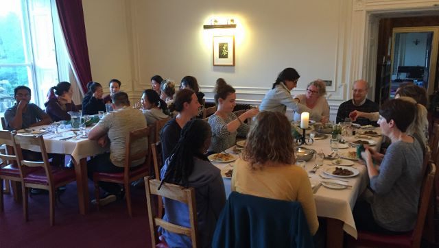rydal hall yoga hikes - dinner