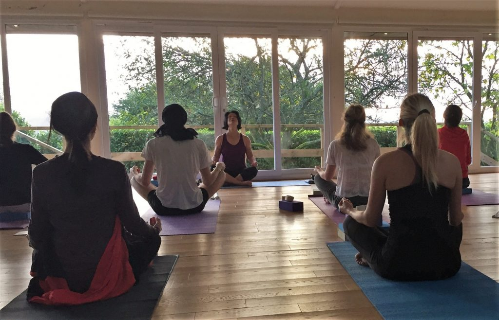 yoga classes on our yoga hikes weekends