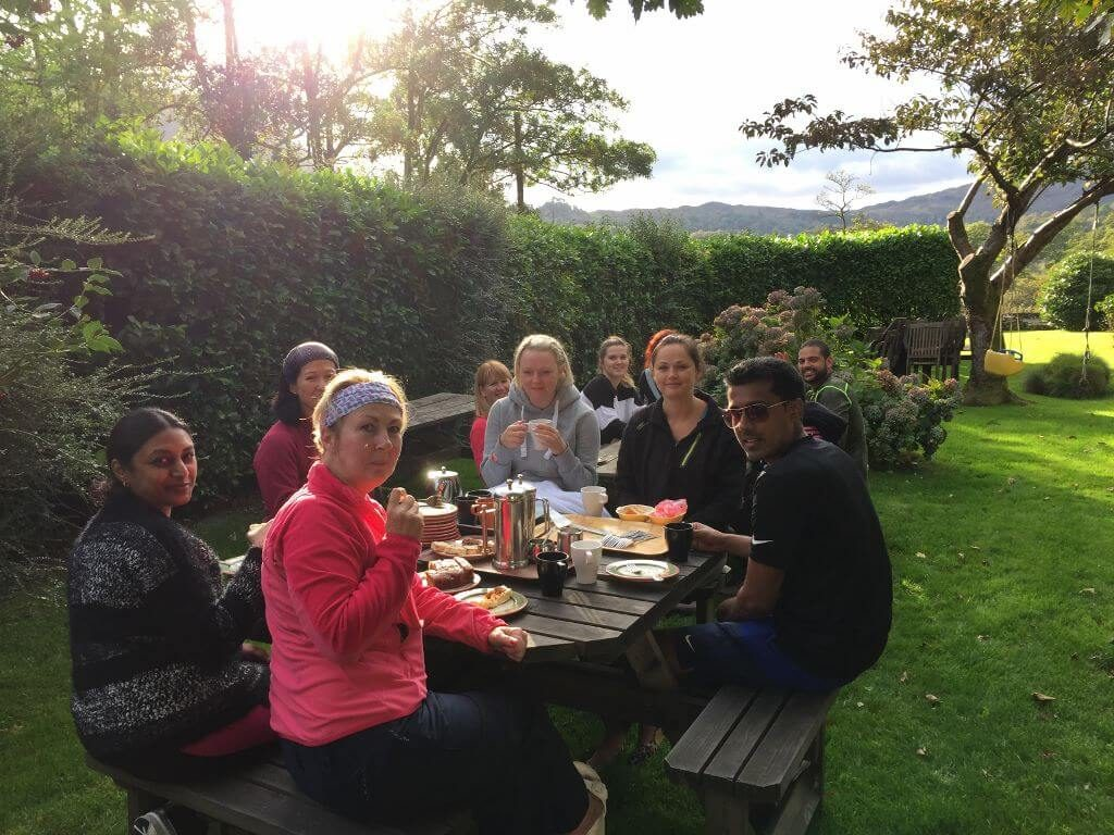nab cottage yoga hikes tea and cake