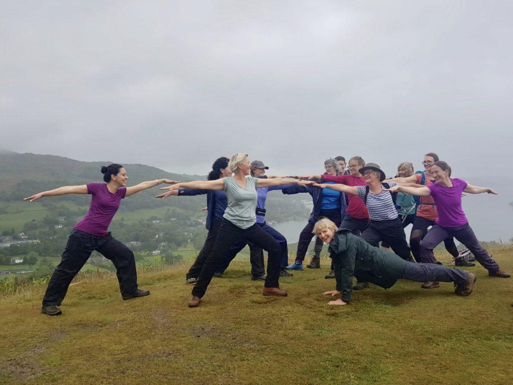 Yoga Hikes weekend at Brathay