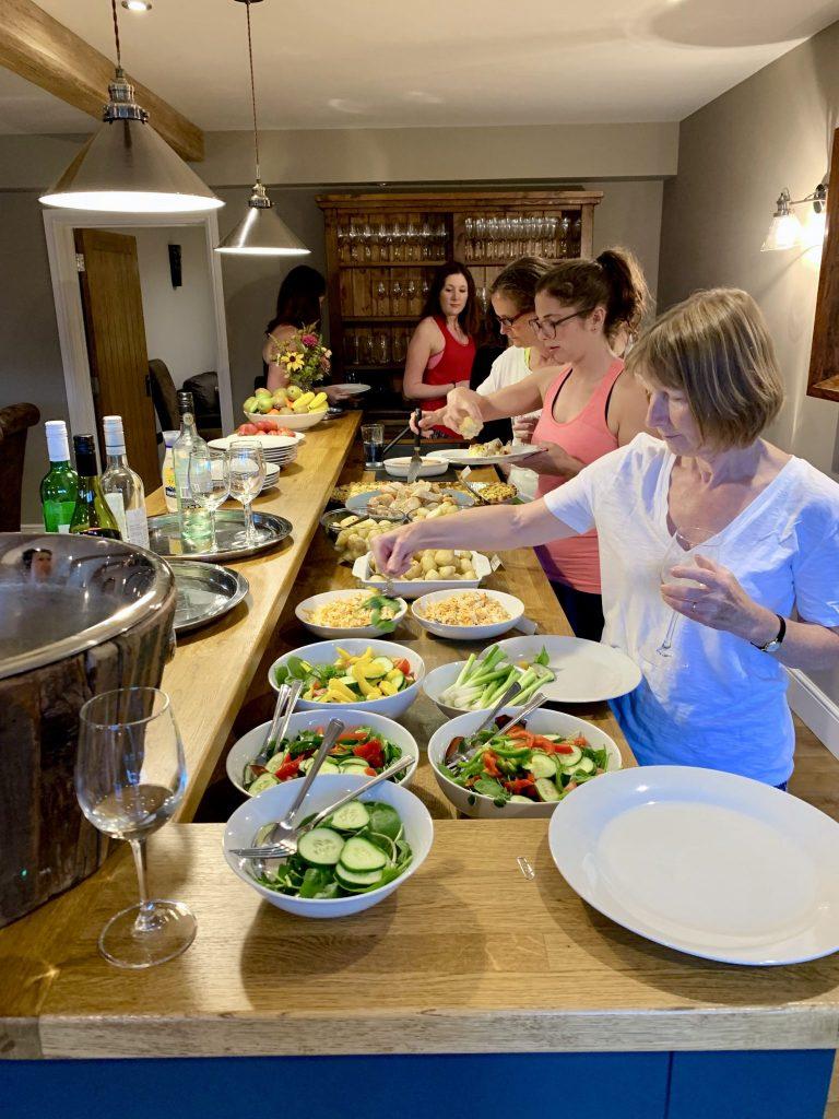 Peak District Yoga Dinner Buffet