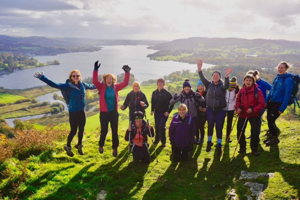 Autumn Nab Cottage Hiking & Yoga group