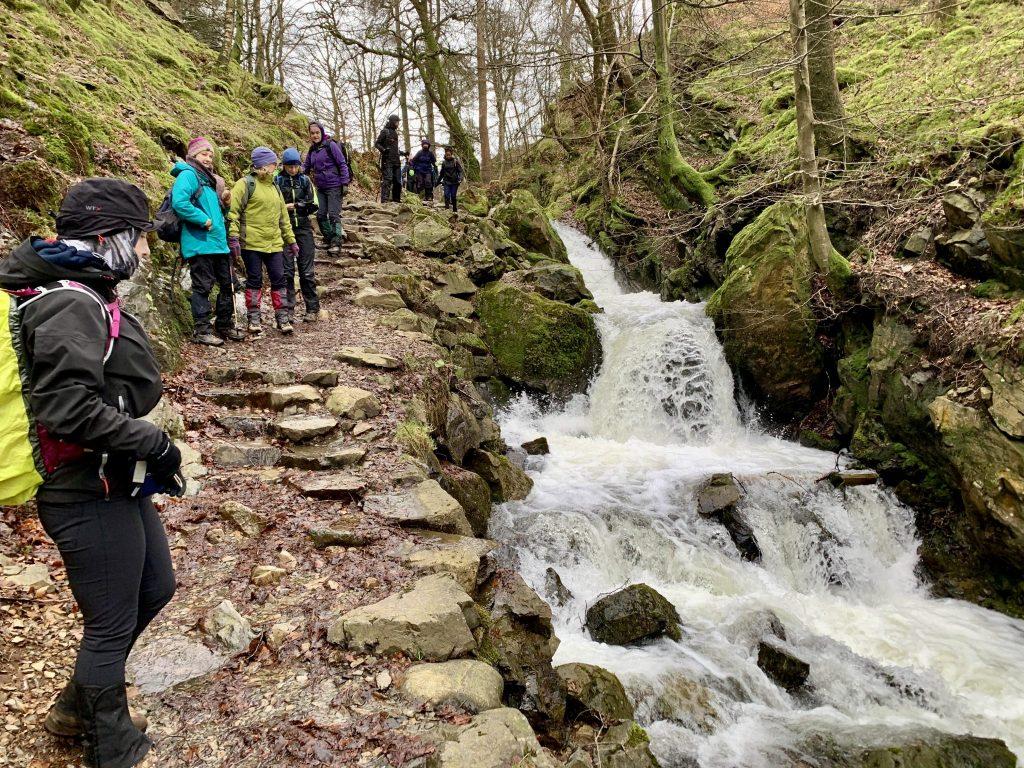 Yoga Hiking adventure Yewfield group hike