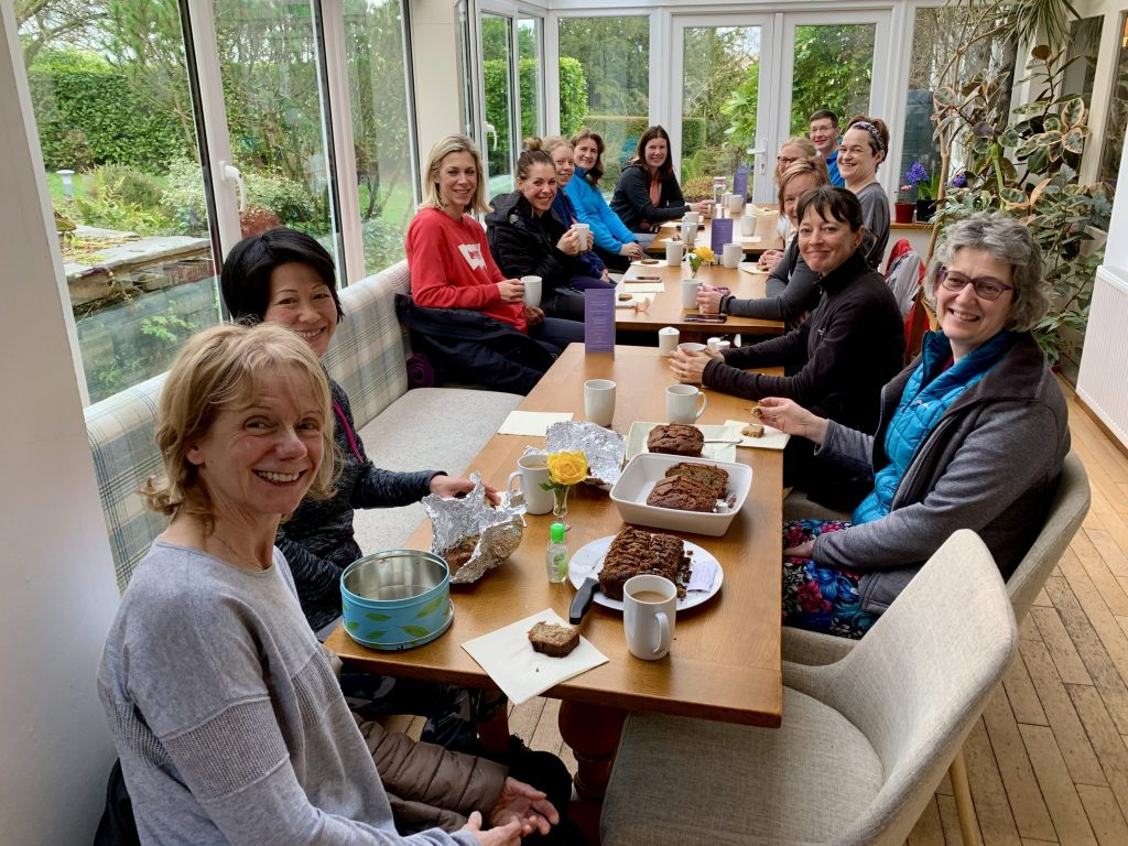 Yoga Hiking adventure Yewfield group tea and cake
