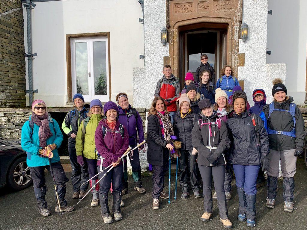 Yoga Hiking adventure Yewfield group